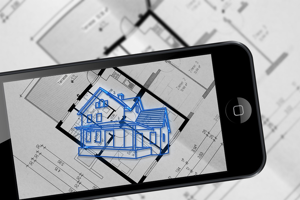 Augmented Reality, Smartphone, Building Plan, Architect